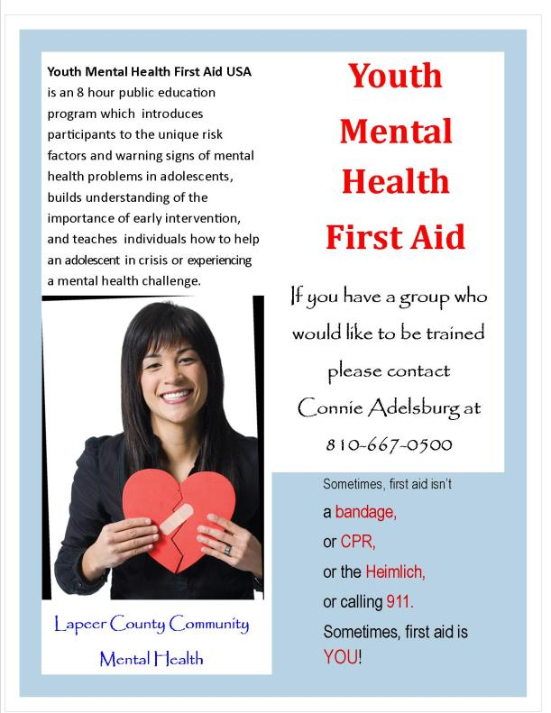 Mental health first aid youth 2016